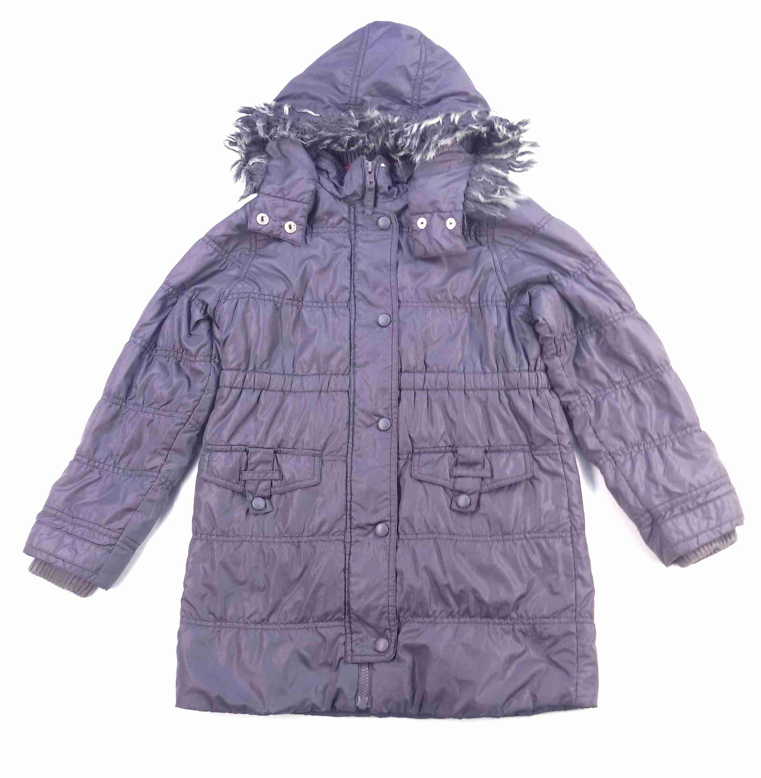 kabát jarní podzimní prošívaný tmavě fialový s úplety MARKS SPENCER vel 140 c9e250d7bc5