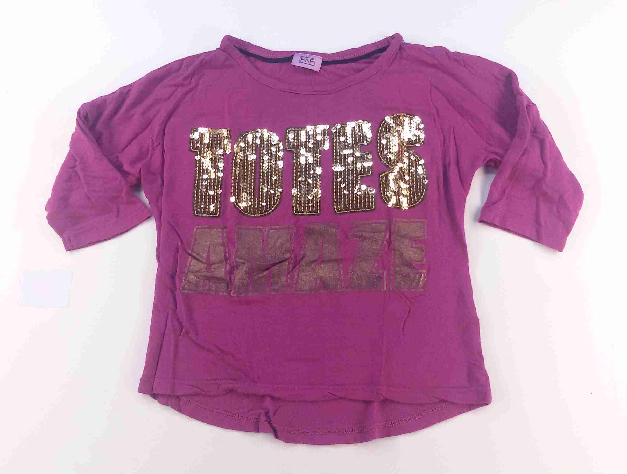 829ee79fa545 tričko netopýří fialové s nápisem s flitry FF vel 116