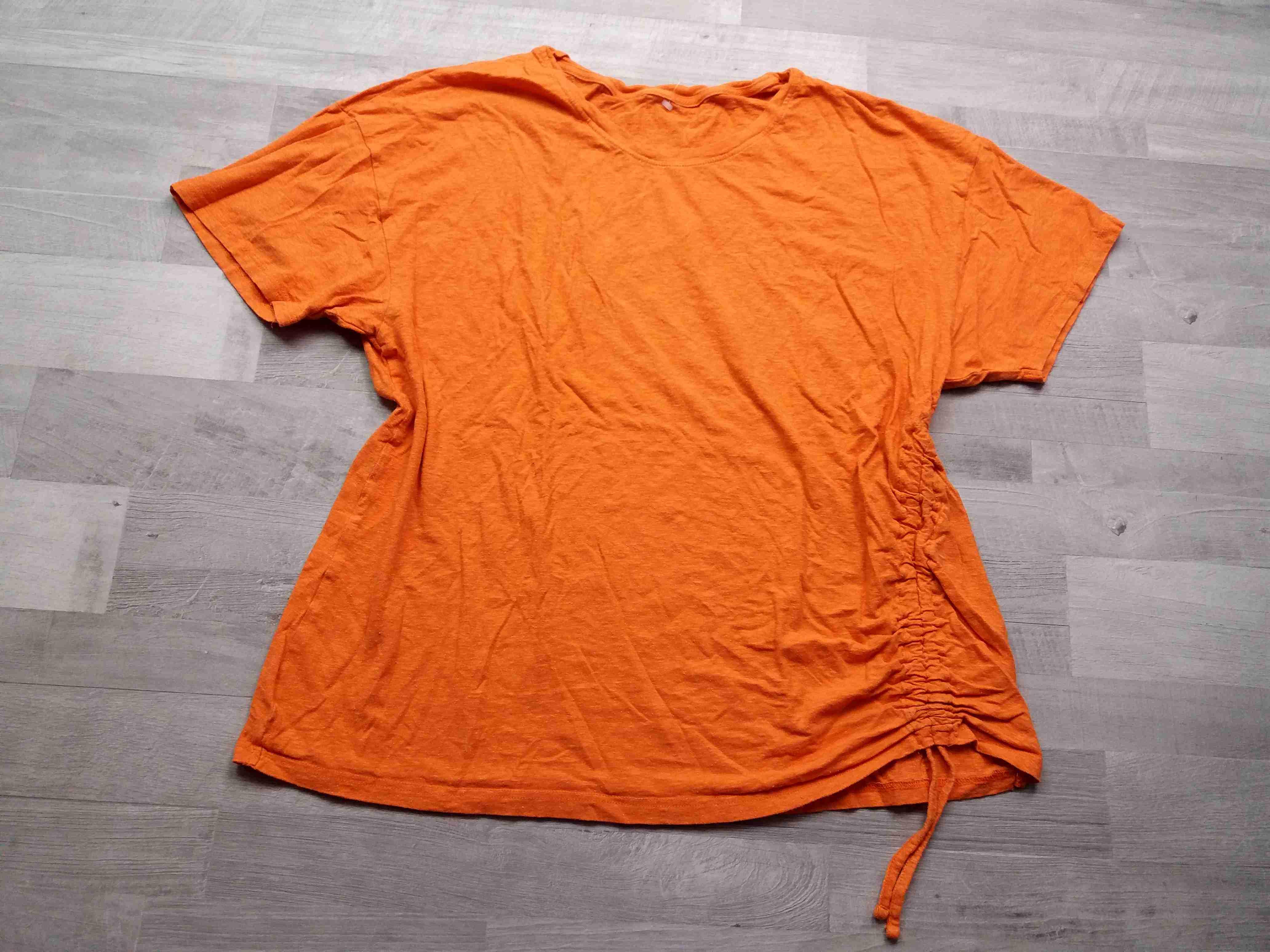 c3f791ed67f tričko kr.rukáv oranžové s tkaničkou vel 2XL
