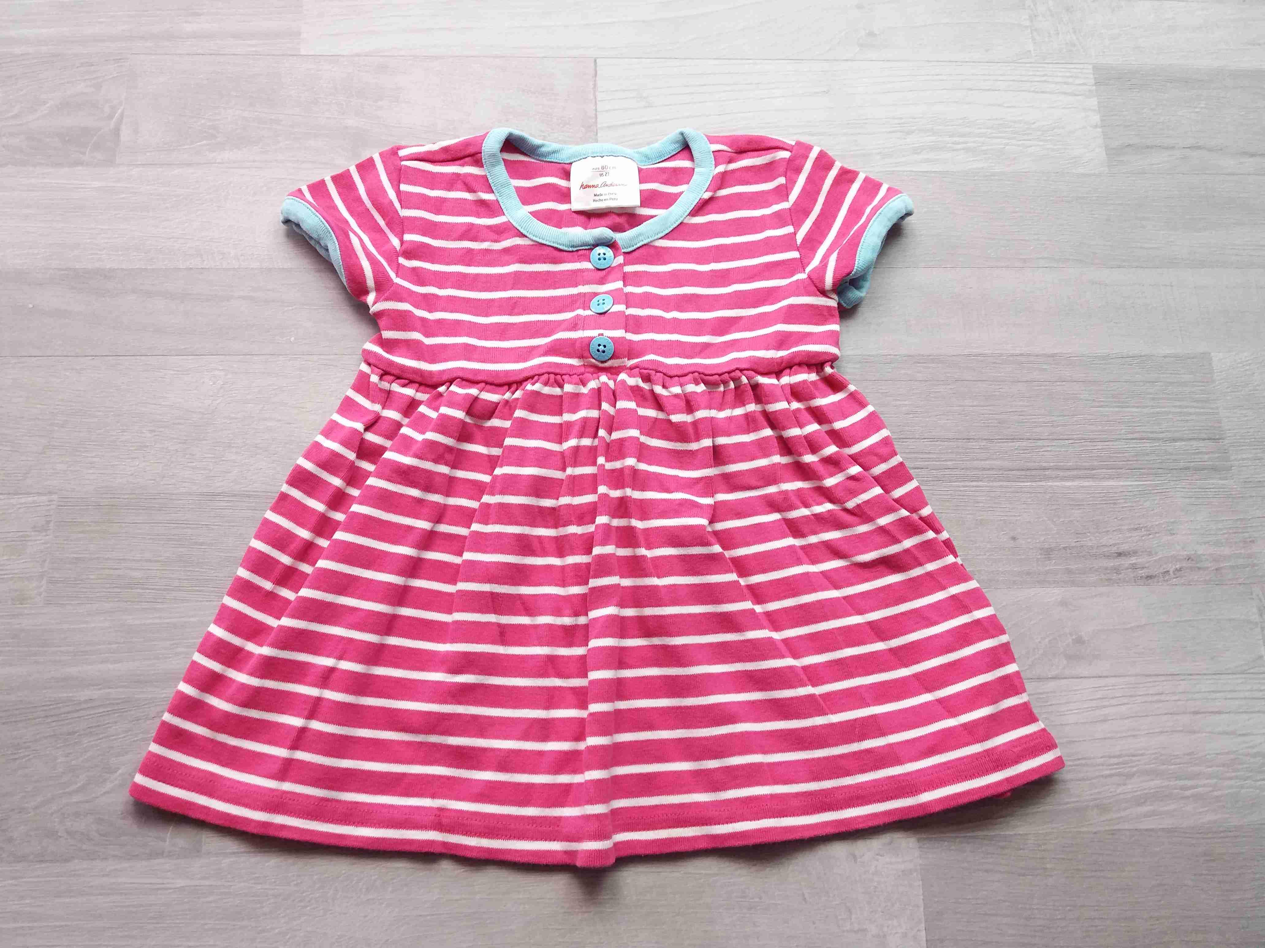 4903b1b3b91 šaty pruhované bílorůžové vel 80