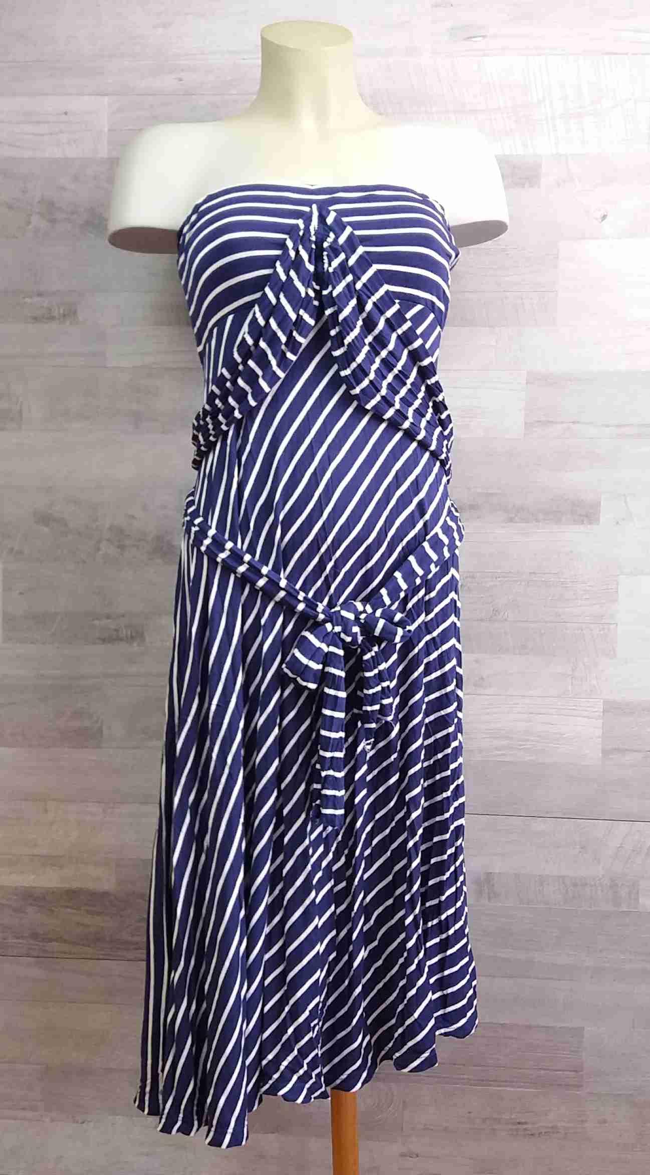 434abf37b7a šaty pruhované bílomodré vel S