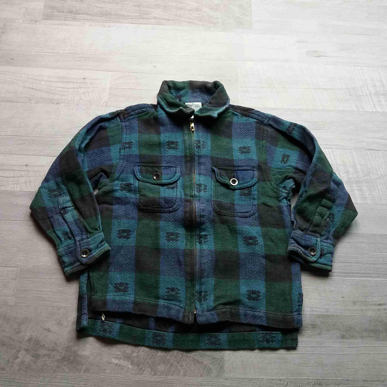 košile teplá kostkovaná zelenomodrá se vzorem vel 104  a818e1c86d
