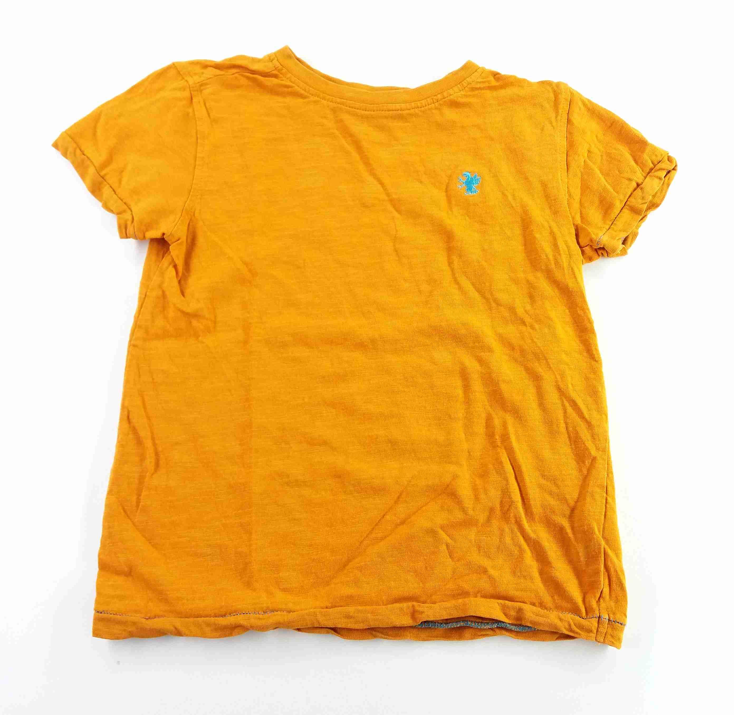 3379f70f79e tričko žíhané oranžové s drakem NEXT vel 104