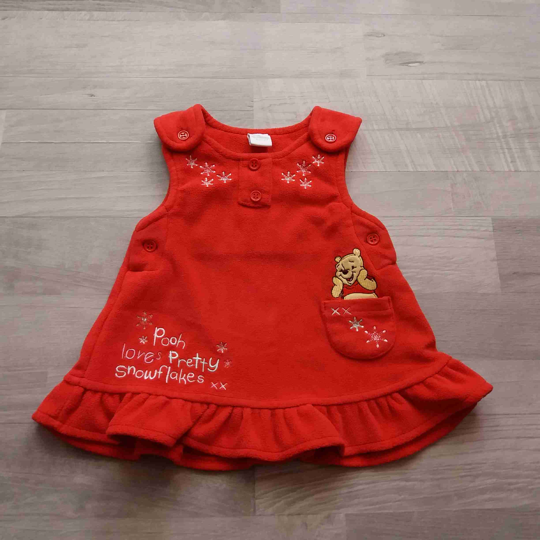 7c31b4ffdf9 šaty fleesové červené s medvídkem PŮ DISNEY vel 62