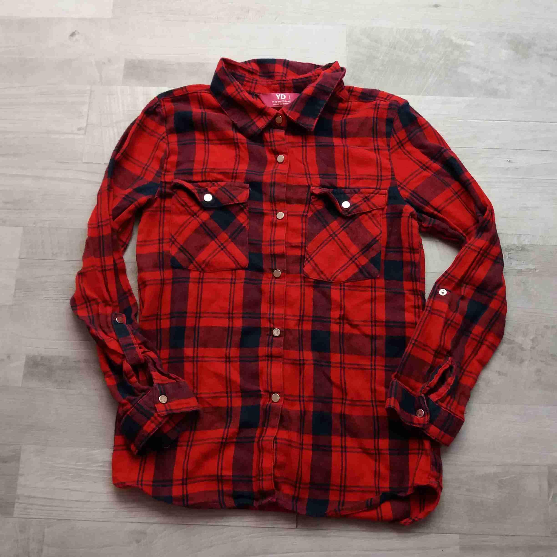 košile dl.rukáv kostkovaná červenočerná vel 152  4948df822e