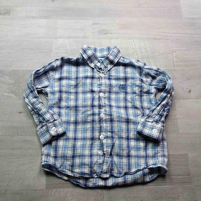 košile dl.rukáv kostkovaná modrobílá vel 86 3d16335609