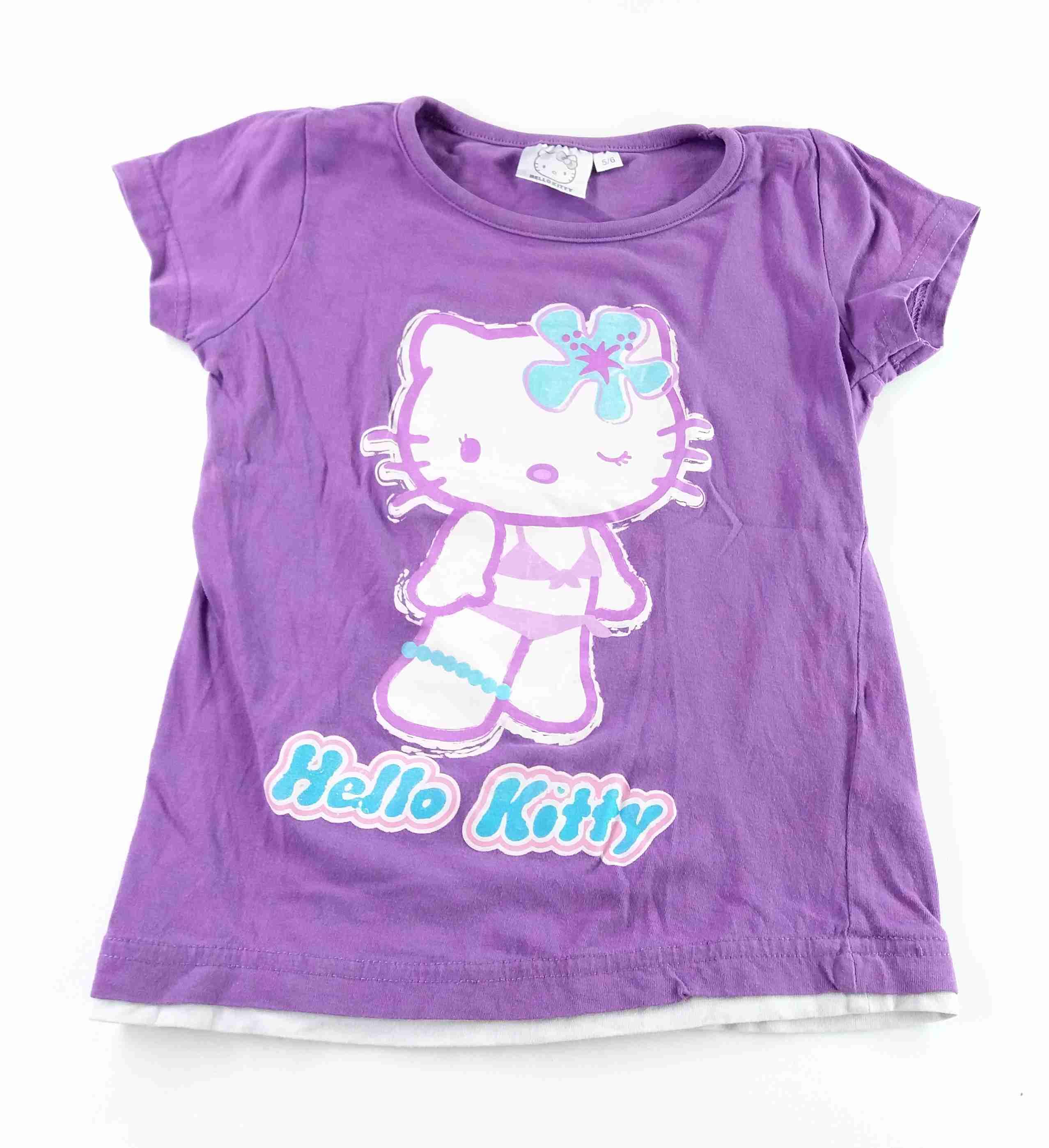cb96f2151513 tričko fialové s Hello Kitty vel 116