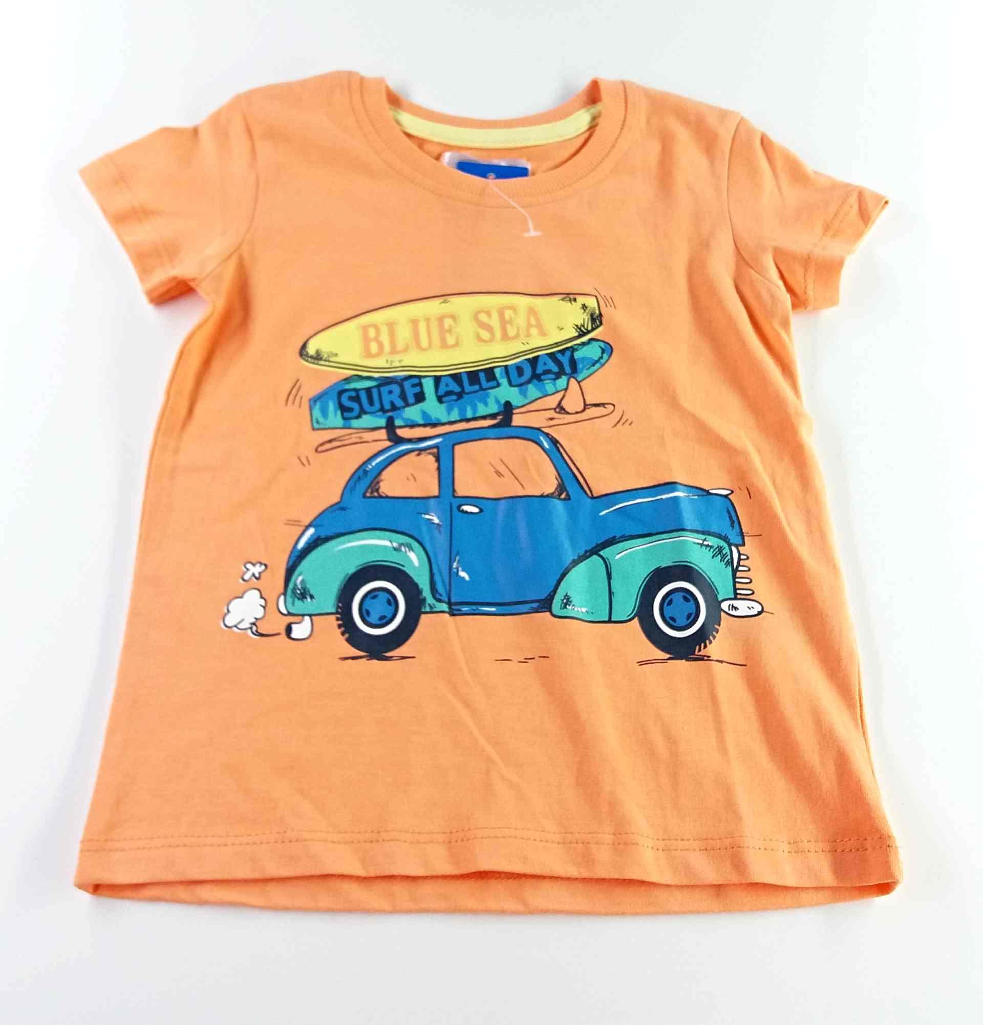 bdf5d747d21 tričko oranžové s autem vel 86