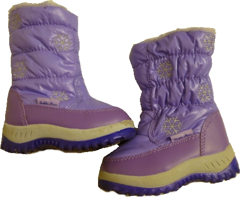 sněhule fialové s kožíškem vel 23