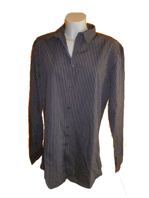 košile proužkovaná černá NEXT vel L 831b51a946